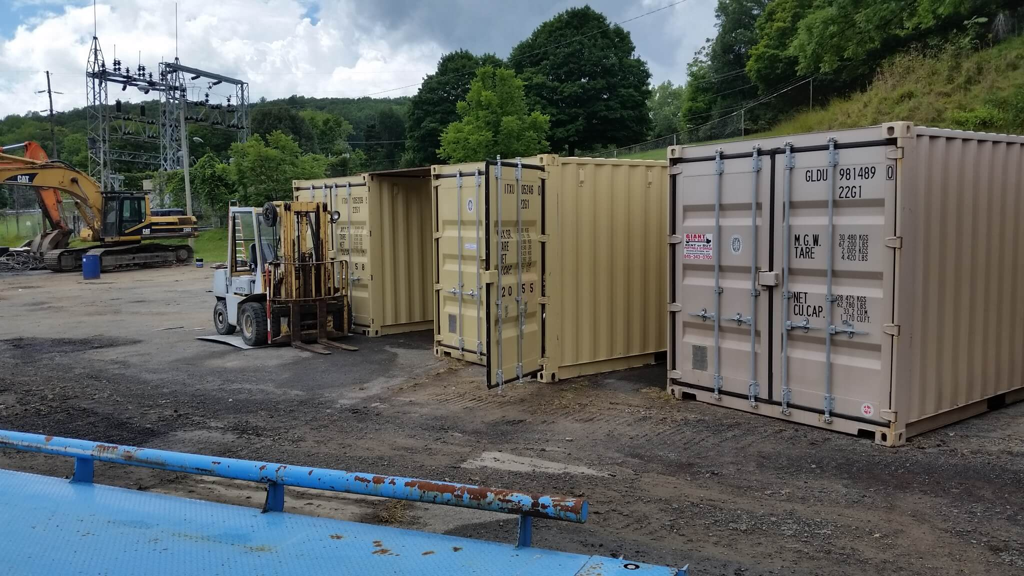 20' Conex Containers on a construction site