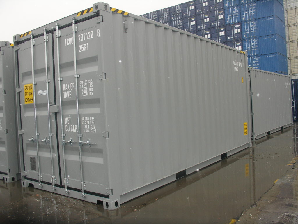 20' High Cube Storage Container - Gray Color