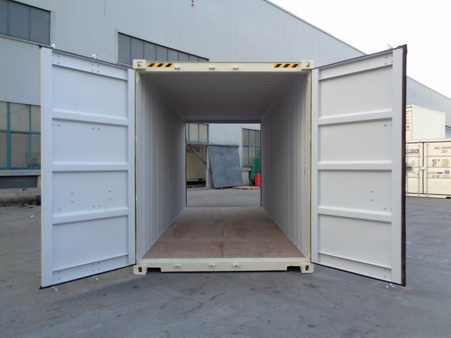 20' High Cube Double door for sale - tan color