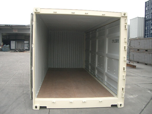 20' Open Sided Container for sale - door end open